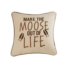 Moose Out of Life Pillow - 8246761754