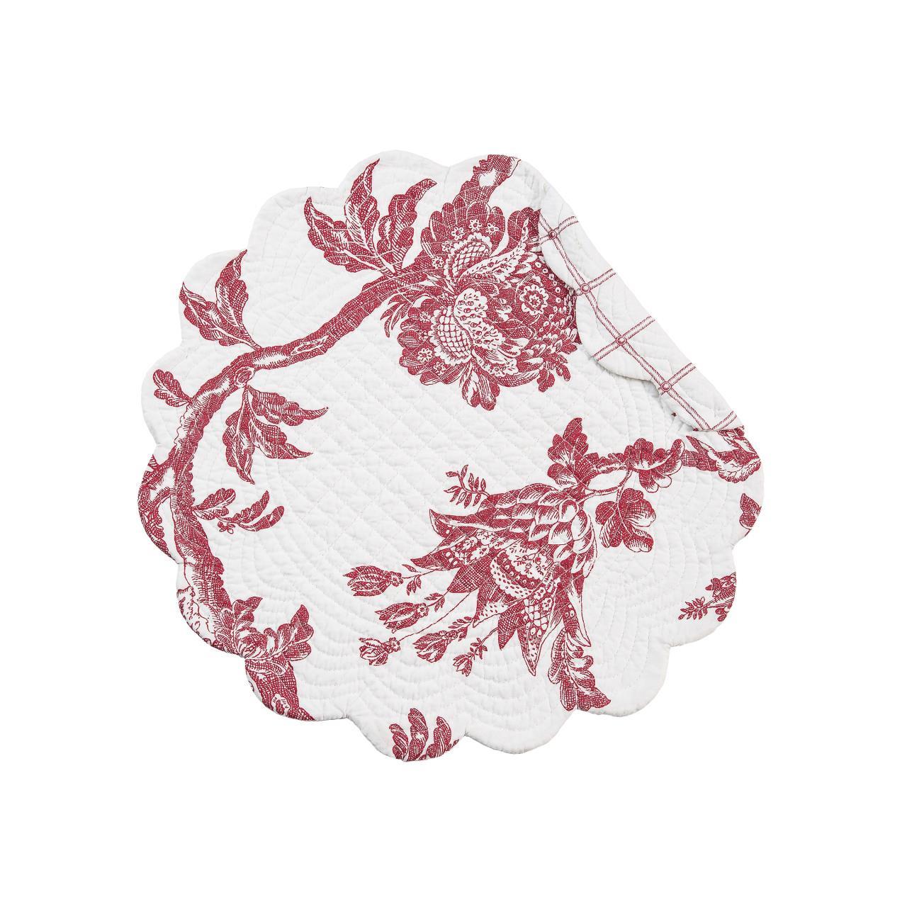 Arcadia Red Round Placemat Set - 8246303299