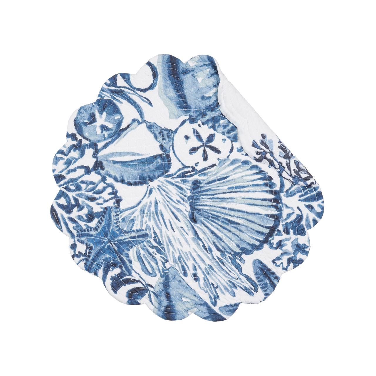 Blue Coast Shells Round Placemat Set - 8246776420