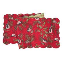 Chickadee Red Table Runner - 8246747888