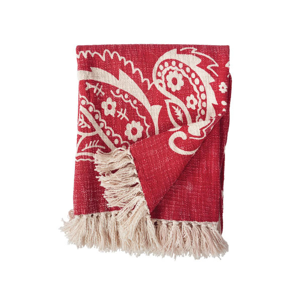 Bandana Red Throw - 8246557135