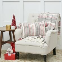 Cozy Nordic Christmas Red/Gray Throw - 8246785224