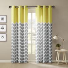 Alex Chevron Grommet Curtain Pair - 675716696894