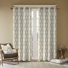 Brooklyn Metallic Emboidered Grommet Curtain - 675716932558