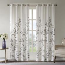 Cecily Floral Burnout Grommet Curtain - 675716969318
