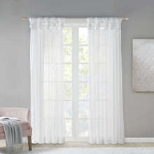 Ceres Sheer Voile Tab Top Curtain Pair - 865699873966