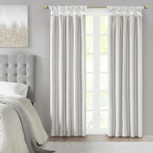 Emilia Twist Tab Faux Silk Blackout Curtain - 865692212786