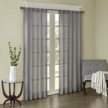 Harper Solid Crushed Voile Curtain Pair - 675716956868