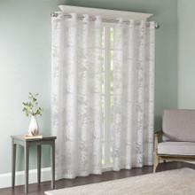 Leilani Palm Leaf Burnout Grommet Curtain - 675716938017