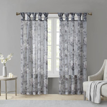 Simone Floral Voile Sheer Curtain - 865692848770