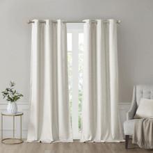 Como Faux Silk Total Grommet Blackout Curtain Pair - 865693118636