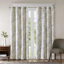 Julie Printed Botanical Blackout Grommet Curtain - 865699098246