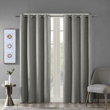 Maya Heathered Solid Grommet Blackout Curtain - 865699098628