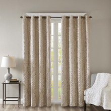 Mirage Knitted Blackout Grommet Curtain - 865699027888