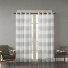 Mason Woven Sheer Grommet Curtain - 675716851316