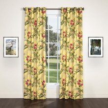 Ferngully Yellow Grommet Top Curtain Pair - 138641309814