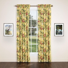 Ferngully Yellow Lined Rod Pocket Curtain Pair - 138641309746