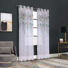 Floralie Watercolor Floral Grommet Curtain - 069556578401