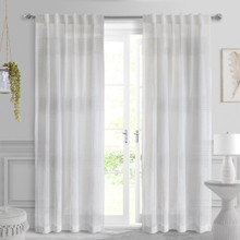 Lindsey Sheer Faux Linen Curtain - 069556582958