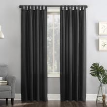Garmin Heathered Texture Semi-Sheer Tab Top Curtain - 029927440485
