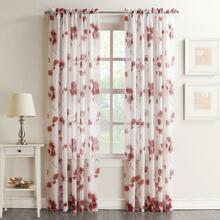 Gwen Floral Crushed Voile Sheer Curtain - 029927450705