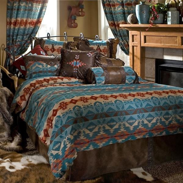 Turquoise Chamarro Bedding Collection -