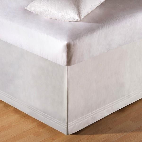 Pintuck White Bed Skirt - 164924642149