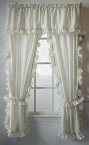 Cape Cod White Ruffled Curtains -