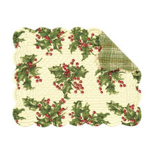 Holly Cream Rectangular Placemat - 164924573153