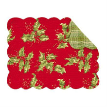 Holly Red Rectangular Placemat - 164924572774