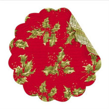 Holly Red Round Placemat - 164924572309