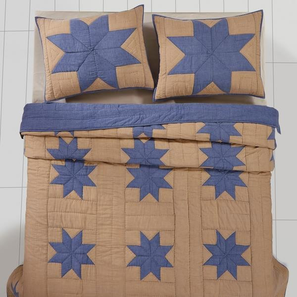 Chambray Star Quilt Collection By VHC Brands -