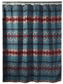 Turquoise Chamarro Shower Curtain - 35731115952