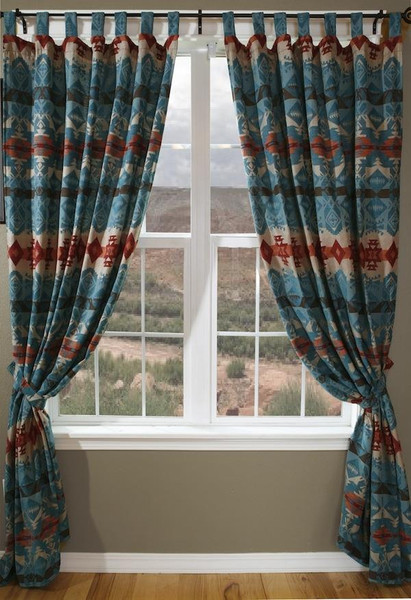 Turquoise Chamarro Curtains - 357311159690