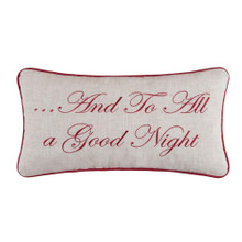And To All a Good Night Embroidered Pillow - 164921420313