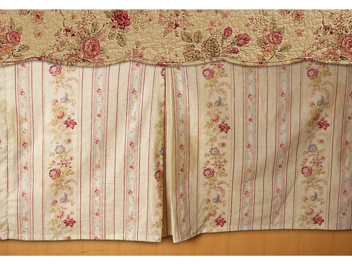 Antique Rose Bed Skirt - 636047339201