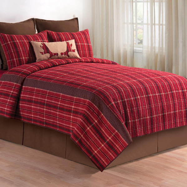 Collin Red Quilt Collection -