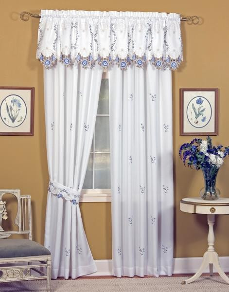 Verona Embroidered Floral Curtains -