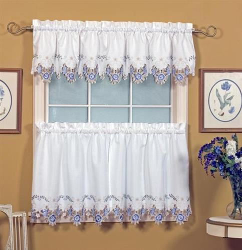 Verona Embroidered Tier Curtains -