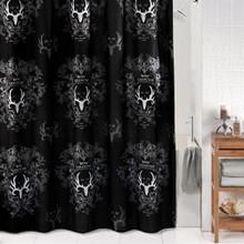 Bone Collector Black Shower Curtain -