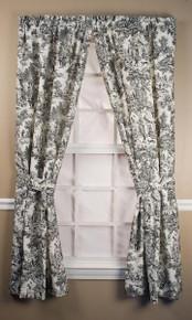Victoria Park Toile Curtain Pair -