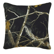 All Purpose Camo Snow and Black Square Pillow -