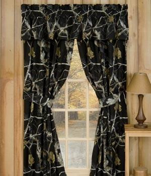 All Purpose Camo Snow and Black Valance -