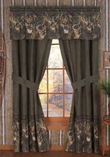 Browning Whitetails Curtains By Browning Buckmark Paul S Home Fashions