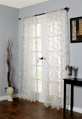 Venice Embroidered Sheer Lace Curtain - 069556 445239