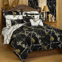 All Purpose Camo Snow and Black Bed In A Bag Set -
