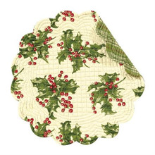 Holly Cream Round Placemat - 164924573221