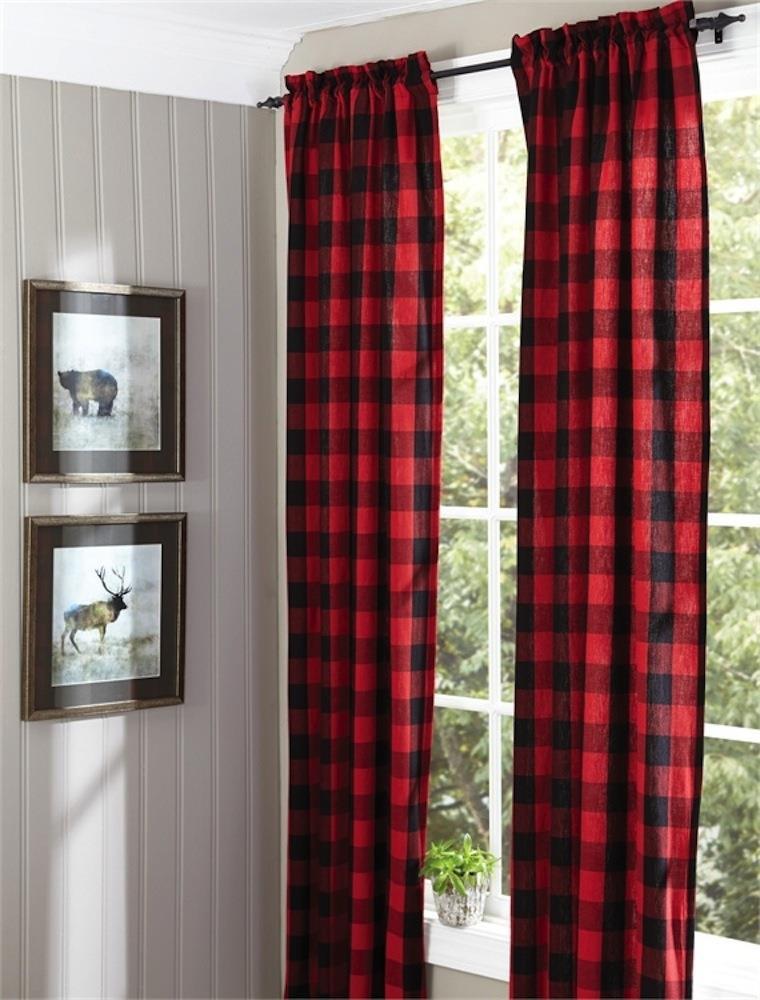 Buffalo Check Curtains - 762242366329
