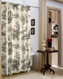 Bouvier Black Toile Shower Curtain - 13864100380