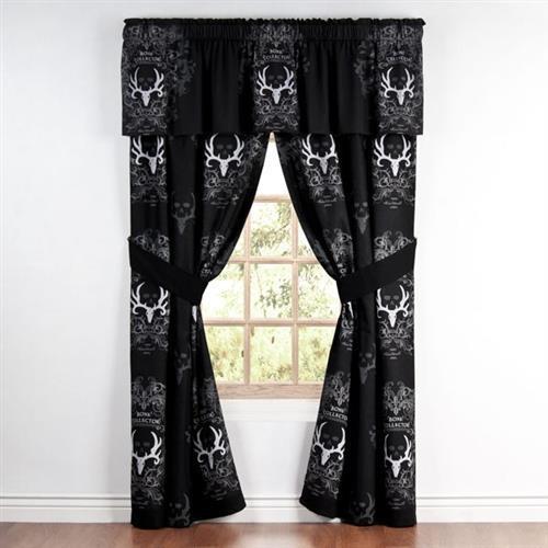 Bone Collector Black Curtains -